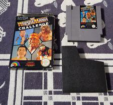 Nintendo NES juego con embalaje original WWF WrestleMania Challenge