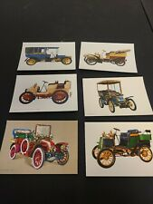 Lot of 6 Vintage Spain Unused Postcards With Antique Cars In Color Rare (105)