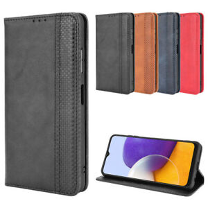 For Samsung Galaxy A22 5G Case Shockproof Magnetic Leather Wallet Stand Cover