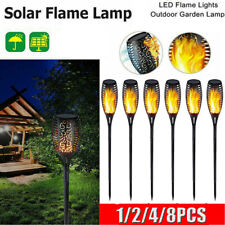 1-8 PCS Flickering Garden Landscape Lamp Dance Flame Solar Torch Light Home Deco