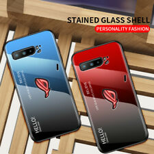 For Asus ROG Phone 3 ZS661KS Ombre Gradually Glass Case Cover + Screen Protector