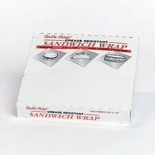 """Dixie Quik Wrap Sandwich Wrap Grease Resistant 12"""" x 12"""" 1 Pk 1,000 Sheets"""