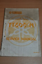 Manuel atelier service manual yamaha tts600 (N) moteur - 1984