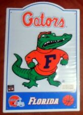 "Florida Gators Metal Sign Go Orange & Blue 11 1/2 X 17 1/2"" New Grad Gift L7"
