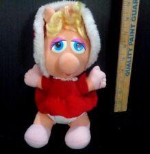 Sesame Street Muppet Baby Miss Piggy In Christmas Dress Plush Stuffed Toy Doll
