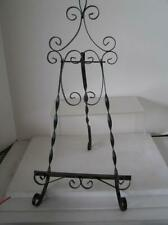 """Wrought Iron Spanish Style Table top easel Ornate 21"""" tall by 10"""" wide"""