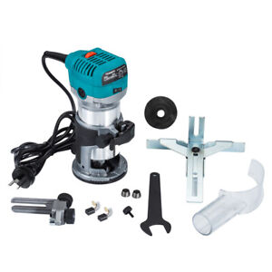 Electric Hand Router Trimmer Laminate Compact Router + Trimmer Base, Woodworking