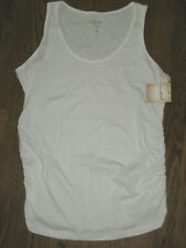 New womens maternity shirt A:glow white essential tank top sleeveless Large
