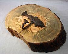 Hemlock Log Hand Towel Coat Hat Rack Holder Natural Wood Rustic Log Cabin Decor