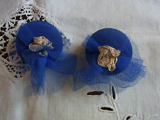 BIJOU 27 VINTAGE 80 Clips ronds Boucles d'oreilles / Vintage 80 clips earrings