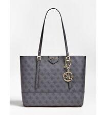 GUESS Black Logo Print Large Shoulder Handbag Womens Tote Bag Brand New RRP £135