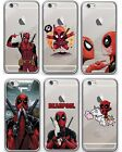 Deadpool Case/Cover Apple iPhone 5 5s SE 6 6s 7 Screen Protector / Gel Silicone