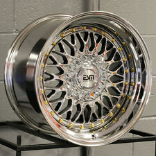 One 16x8 ESM 002R 4x100/5x100 20 Platinum Wheel New