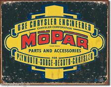 Tin sign 31 x 40, Mopar Logo '37 - '47, USA Advertising sign Art. #1314