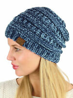 New! C.C Women's Chenille Soft Warm Extra Thick Knit CC Beanie Cap Hat