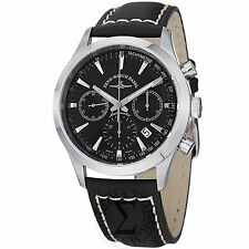 Zeno Men's Vintage Line Black Dial Black Leather Strap Chrono Watch 6662-7753-G1