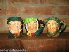 Set of 3 ROYAL DOULTON TOBY JUGS- SMALL MUGs Made in England