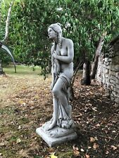 Large Maiden naked lady stone garden ornament statue elegant heavy solid