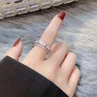 Women Girls Fashion Crystal Silver Adjustable Ring Jewellery Gift Uk