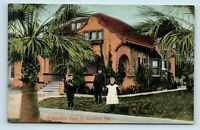 Anaheim, CA - EARLY 1900s VIEW OF BEAUTIFUL HOME - NEWMAN CO POSTCARD
