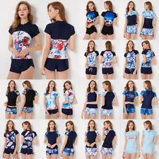 13 Stile Donna Tankini Bikini Costumi Da Bagno Surf Floreale Stampa Zipper beachsuit