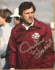 Jackie Sherrill  Autographed Texas A&M 8x10 Photo. Gameday hologram