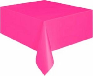 """Hot Pink Party Table Cover 137cm x 274cm - """"Hot Pink / Magenta"""" Party Supplies"""