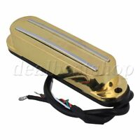 Gold Electric Guitar Dual Coil Rail Magnetic Humbucker Pickup 4 Wires