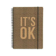 Kraft Typo A5 Notebook 160 Pages White Paper Its Ok Notebook - Go Stationery