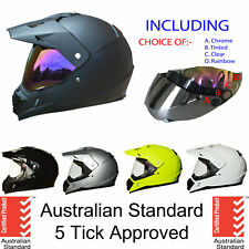 Dual sport helmet dual purpose motorcycle full face road helmet motocross+ VISOR
