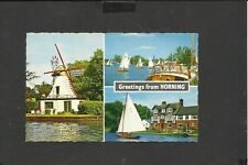 Vintage Constance Multi View Postcard Greetings from Horning Norfolk unposted