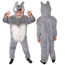 IL Kids Wolf Costume animal Fancy Dress Child School Book Week Character 7119