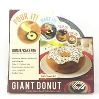 BRAND NEW Giant Donut Cake Pan Form by Batchworks Non Stick Baking Mold Doughnut