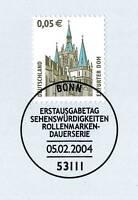 BRD 2004: Erfurter Dom! SWK Nr. 2381 mit Bonner Ersttagssonderstempel! 1A 1608