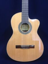 Rosales Solid Cedar Top Thin-body Classical Guitar,Fishman Eq+Bag |C-3Bceq/Cr|