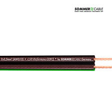 SOMMER CABLE Orbit 2x2,5mm² High End Speaker Lautsprecherkabel schwarz transpare