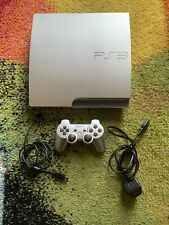 PS3 Satin Silver 320GB Console + Controller Very Good Condition PLAYS PS1