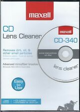 Maxell  CD/DVD/Game/Computer LENS CLEANER CD-340  New Sealed in Amaray DVD Box