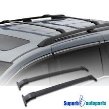 11-17 Fit Honda Odyssey Luggage Carrier Roof Rack Cross Bars Black Aluminum Kit