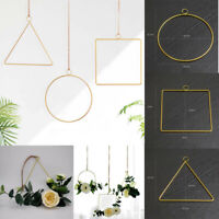 3D Geometric Wall Mounted  Flower Holder Metal Geometric Home Decor Nordic Style