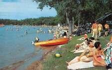 Bear Lake Michigan Vactionland Beach Waterfront Vintage Postcard K80534