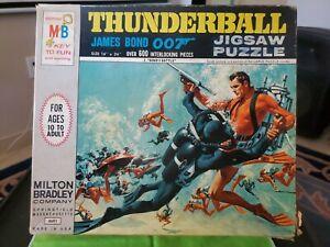 Vintage 1965 Original JAMES BOND 007 Thunderball Battle Jigsaw Puzzle 4691-2