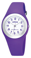 Lorus by Seiko R2305GX9 Kids Purple Soft Silicone Strap Watch