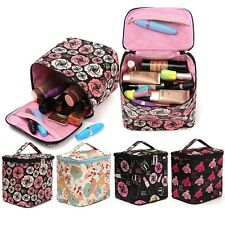 Trendy Rose Travel Organizer Purse Toiletry Cosmetic Make Up Case Wash Bag Top