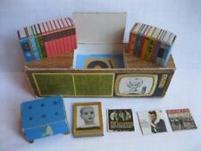 Vtg 1962 Dream House Teenage Fashion Cardboard Furniture Stereo Tv Records Books