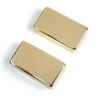 Metal Regular Humbucker Pickup Cover No Pole holes ,Gold Plated (set of 2)