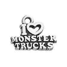 30Pcs I Love Monster Trucks Charm Truck Pendant Jewelry For Kids