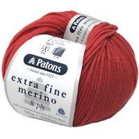 Patons EXFM Extra Fine 100% Merino Wool 8 Ply  ORCHID, RUST, GRAPE, NUTMEG