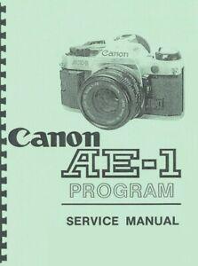 Canon AE-1 Program Camera (NatCam) Service & Repair Manual Reprint