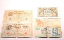 Trabajo Lote De 5 billetes de banco alemán/hambre/Grecia de 1910 a 2001